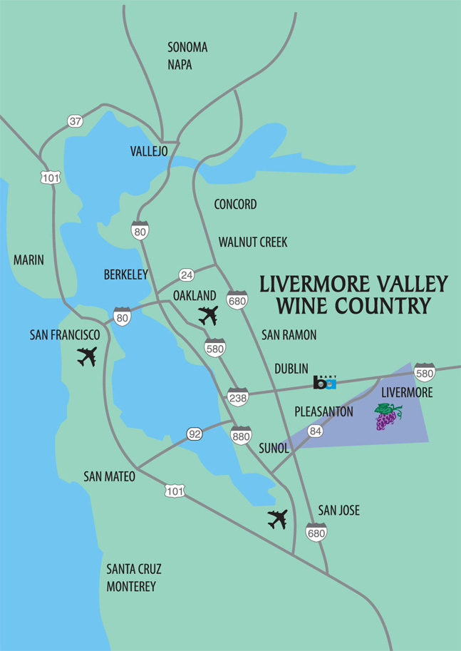Livermore Ca Map Livermore Valley Winegrowers Association | Driving Directions Livermore Ca Map