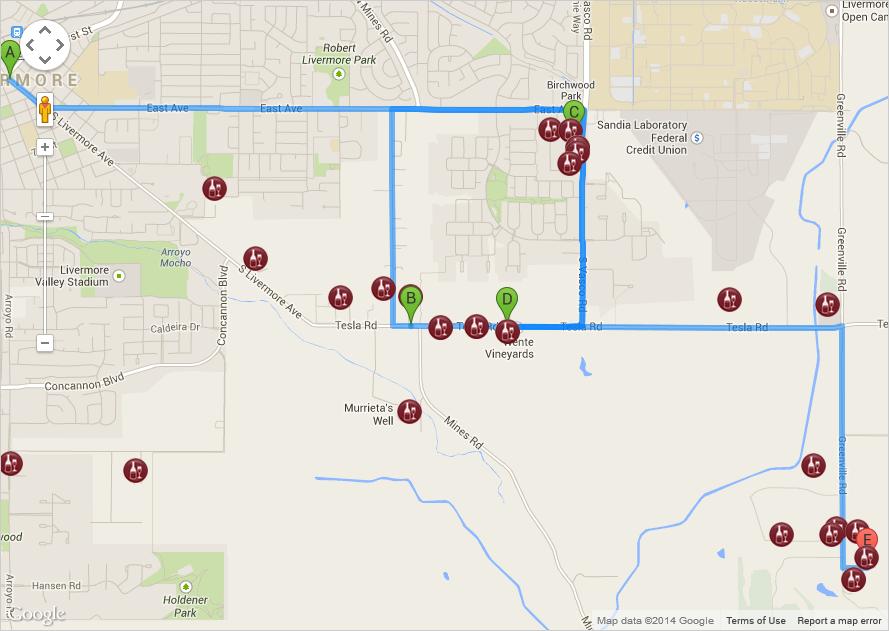 LVWA Itinerary Planner