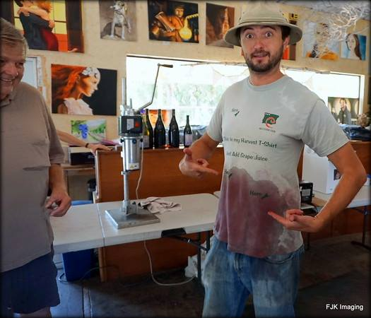 John Evan Cellars shows us what happens when you bottle wine!